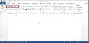 thiết lập font chữ mặc định cho word 1